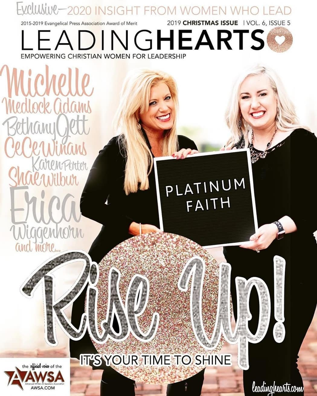 Leading Hearts Magazine Cover AWSA Michelle and Bethany
